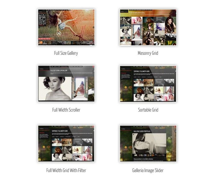 Tipos de Galeria WordPress