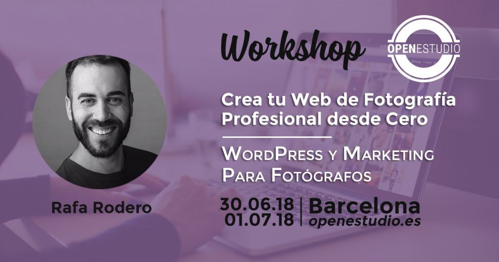 workshop wordpress y marketing para fotógrafos crea tu web