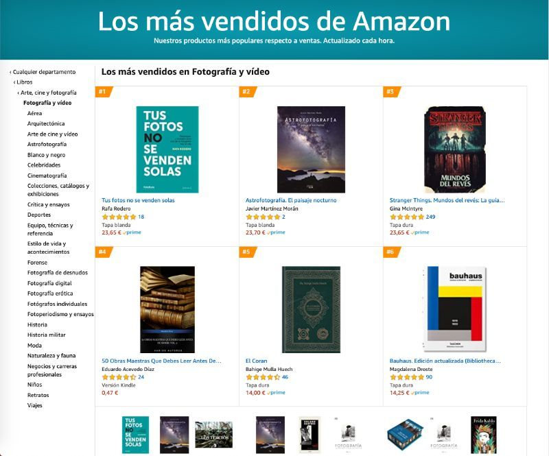 Best Seller en Amazon fotografia y video -