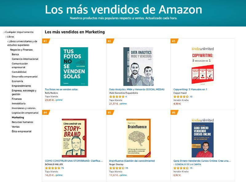 Best Seller en Amazon marketing -
